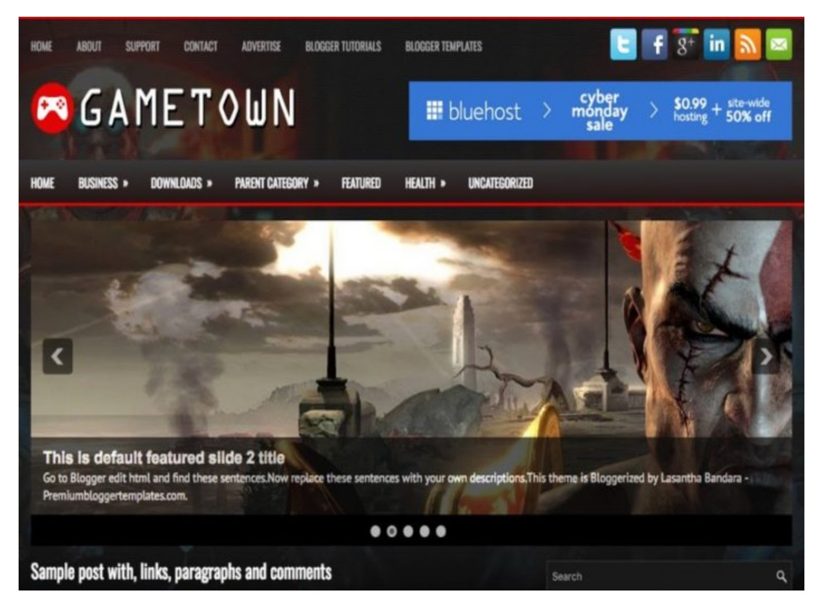 Game Town Blogger Template
