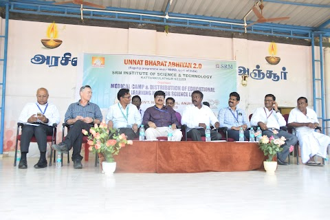 Medical Camp and Distribution of educational learning kits for Science Lab at Anjur