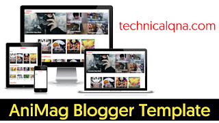 AniMag Responsive Blogger Template Free Download