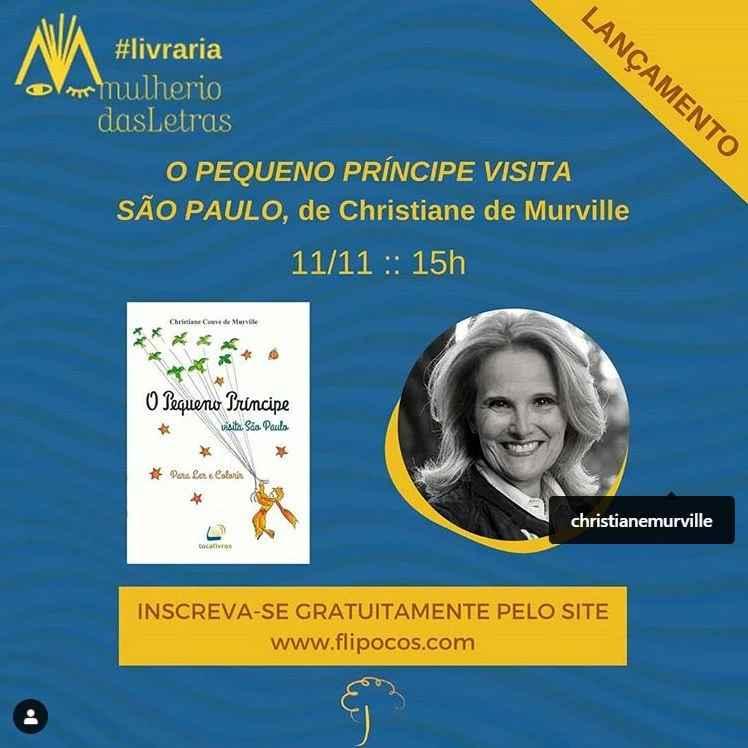"""""""O Pequeno Príncipe visita São Paulo"""" (Christiane Couve de Murville) na Filipoços 2020"""