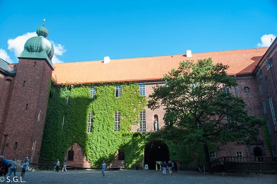 Exterior del ayuntamiento de Estocolmo