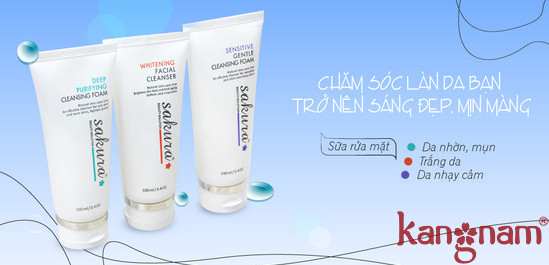 Bộ 3 sữa rửa mặt Sakura - Giải pháp tối ưu cho mọi làn da