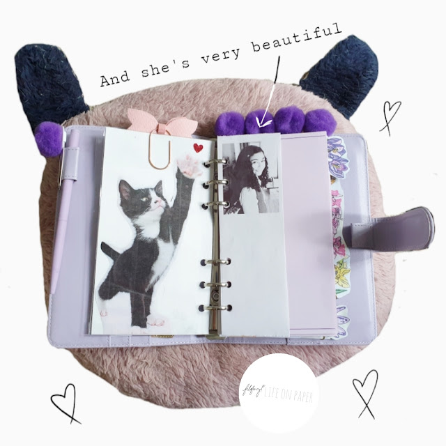 Purple Filofax Planner Inspiration for Girls