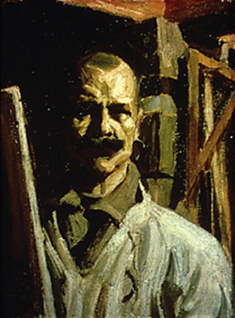 Akseli Gallen-Kallela, Self Portrait, Portraits of Painters, Fine arts, Portraits of painters blog, Paintings of Akseli Gallen-Kallela, Painter Akseli Gallen-Kallela