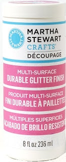 Martha Stewart Decoupage Durable Glitter Finish to use on painted rocks #ILovePaintedRocks
