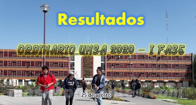 Resultados UNSA 2020 I Fase