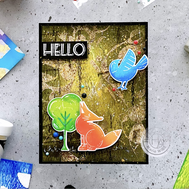 video tutorial,cards,My Monthly Hero Kit April 2021,stencils,ink,cardmaking,video,stamping,papercraft,Cardbomb,maria willis,paper,cardmaker,inkblending,handmade,mixed media,stamps,Hero Arts,