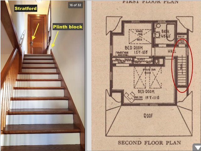 Sears Wayne staircase with plinth block