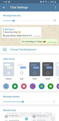Setting Tampilan Chat Telegram