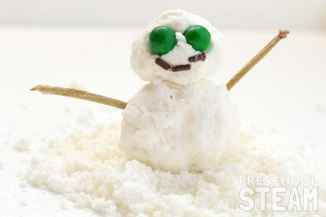 Corn Starch Snow Recipe from Preschool STEM