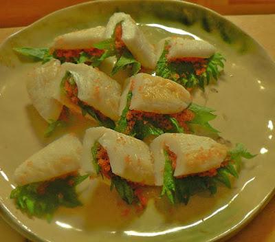 笹かま 大葉と粒カズノコサンド