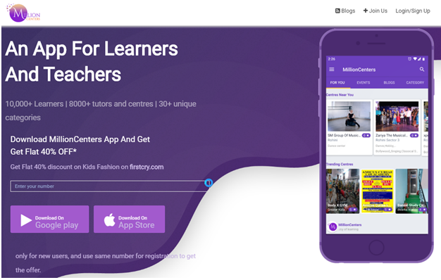 Millioncenters – Never Stop Learning Your One App for Teaching & Learning