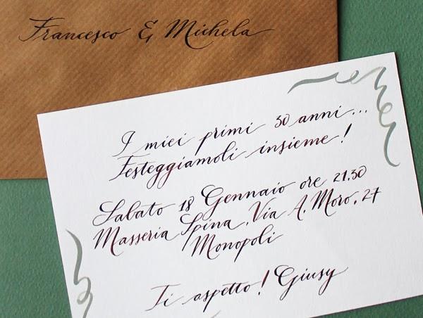 Super giochi di carta: Inviti scritti a mano ○ Handwritten invitations GM26