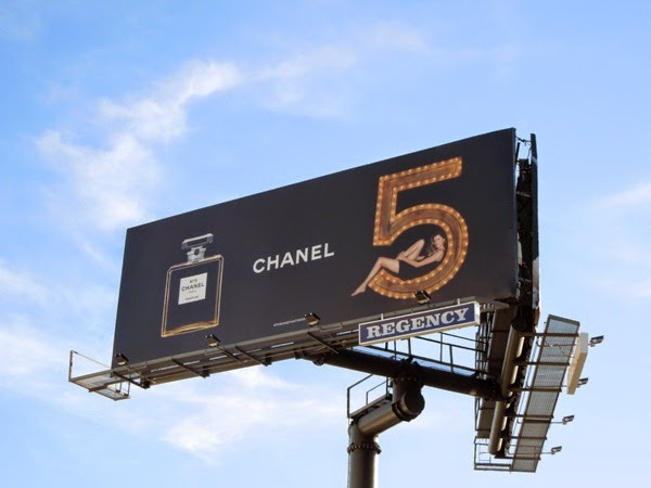 Chanel No5 fragrance billboard