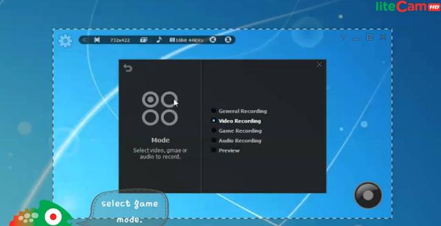 تحميل برنامج تصوير شاشة سطح المكتب مجانا للكمبيوتر liteCam HD 5.5