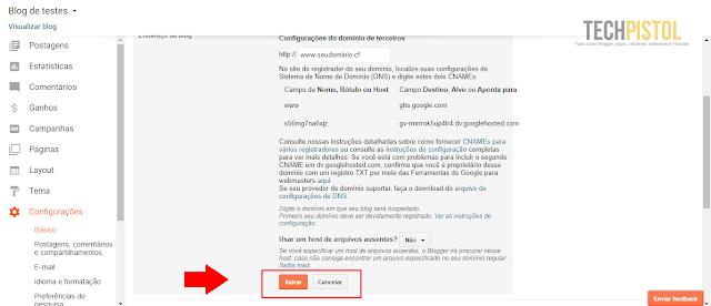 Como configurar um domínio do Freenom no Blogger?