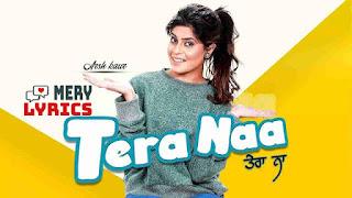 Tera Naa By Arsh Kaur - Lyrics