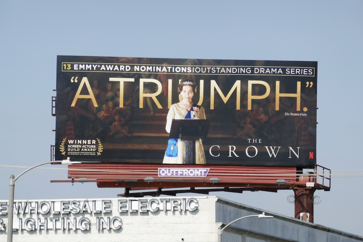 Crown 2020 Emmy nominee billboard