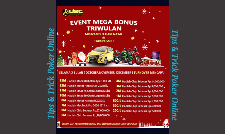 UBCPoker Mega Bonus TRIWulan !!! | Tipstrik01 EVENT