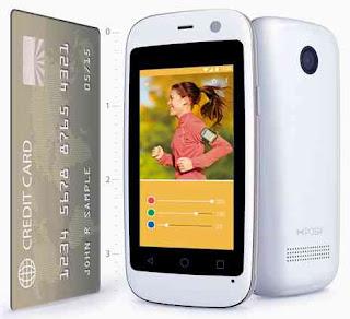 Android Terkecil Micro X S240 seukuran kartu kredit