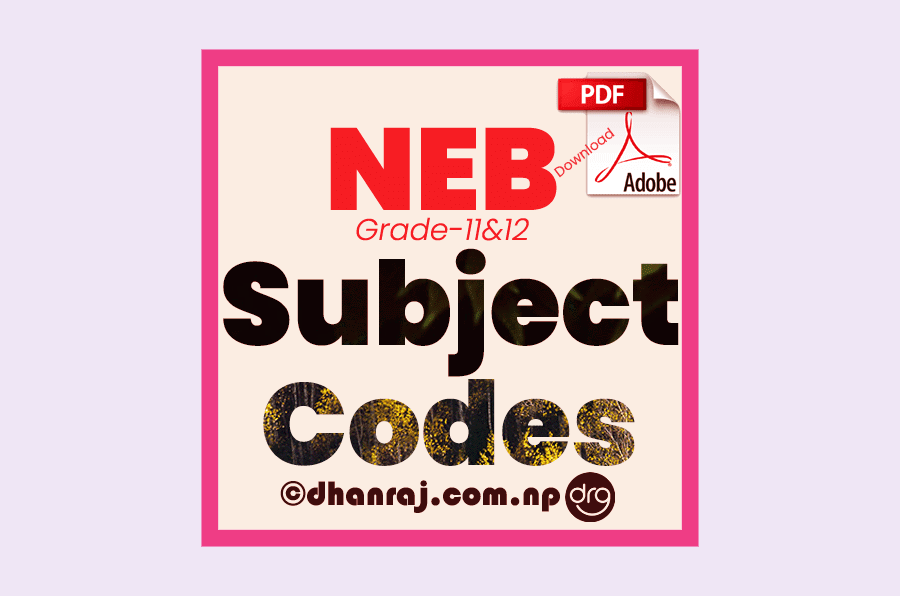 Subject-Codes-of-Grade-11-and-Grade-12-National-Examination-Board-NEB