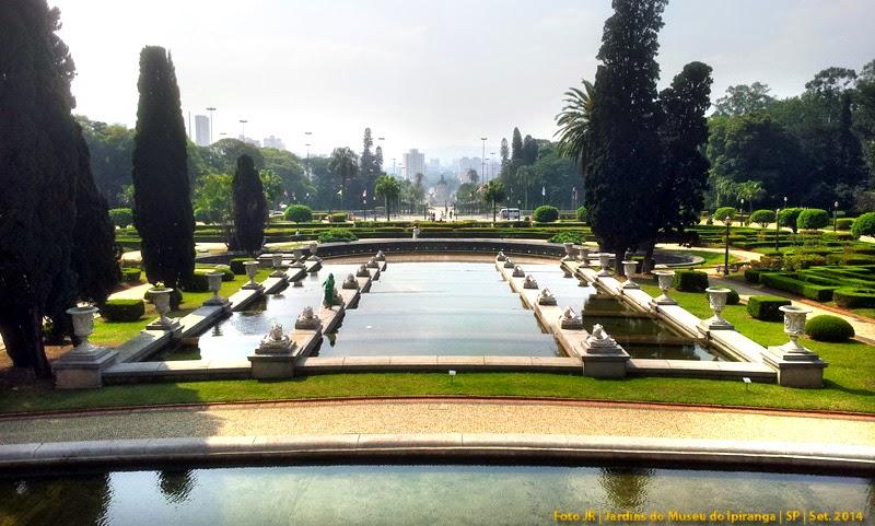 Jardins do Museu do Ipiranga | Estilo francês ou racionalista