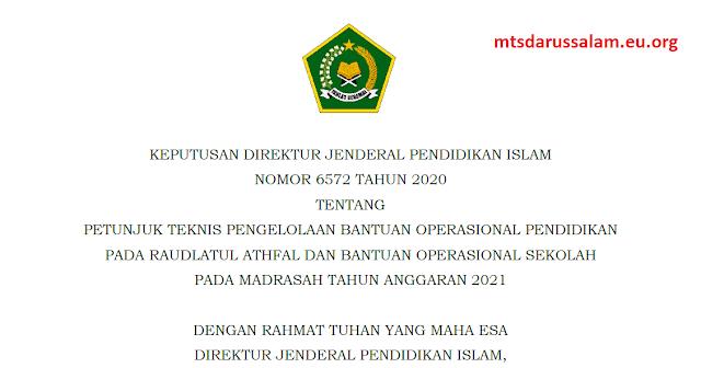Juknis BOS RA/Madrasah Anggaran 2021
