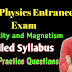 Electricity and Magnetism - Important Topics for IIT JAM , DU,JNU,PU,BHU MSC Physics Entrance Exam