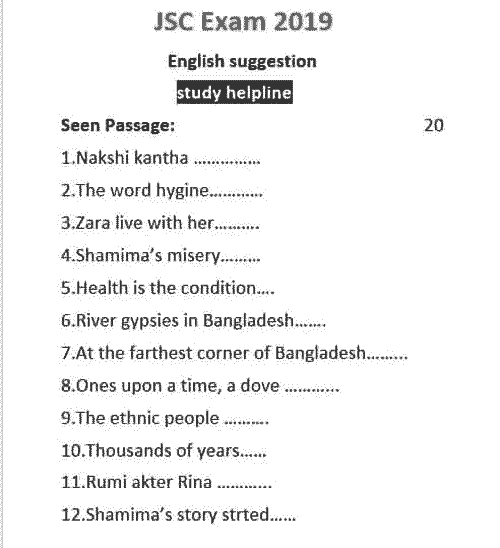 JSC English Suggestion 2019 Part 3