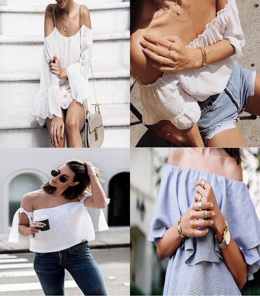 How To Style // Off The Shoulder Tops