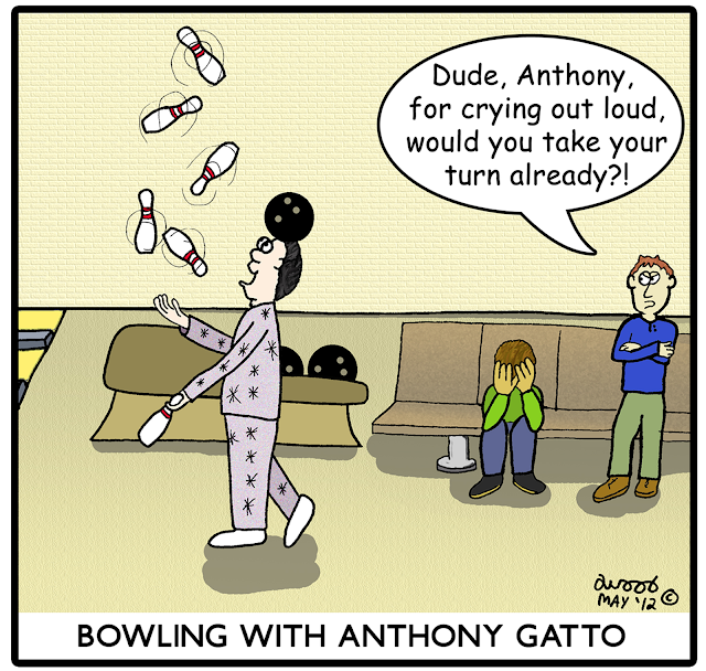 anthony gatto juggling bowling pins cartoons comics