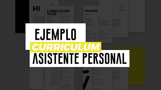 Ejemplo de CV de asistente personal