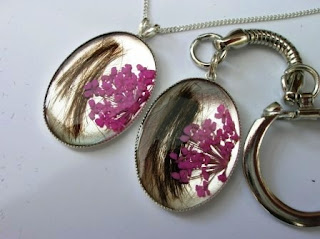 Matching pendant and keyring for locks of hair