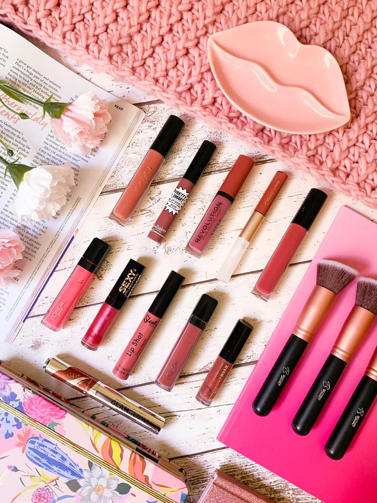 My Lip Gloss Collection Flatlay