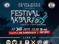 """UKMBS MUSIK IIB DARMAJAYA Mempersembahkan: FESTIVAL AKBAR 16 """"Gerakan Ujung Sumatera"""" Sabtu, 13 July 2019 di kampus IIB Darmajaya!"""