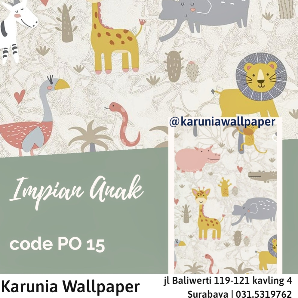 toko jual dinding wallpaper hewan lucu