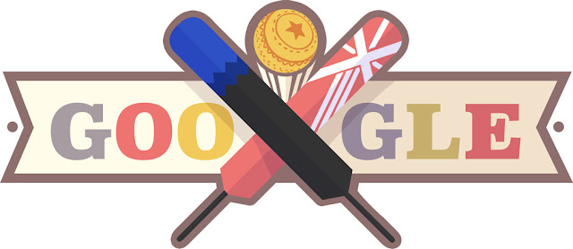 ICC - Men's Semi-Final - New Zealand v England : Google Doodle