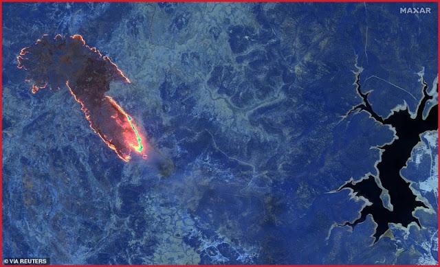 استراليا تحترق ولهيب النار يظهر من الفضاء