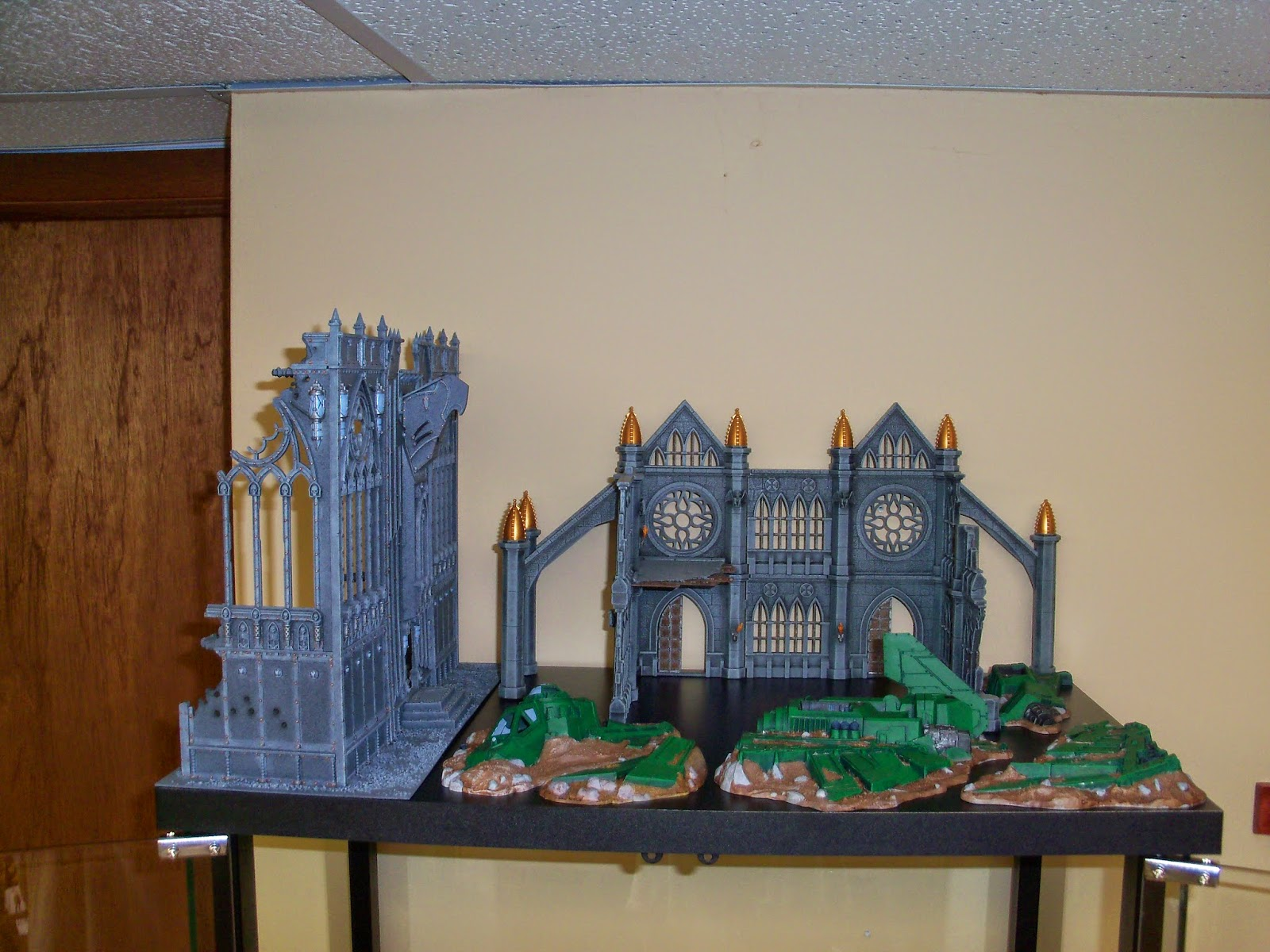 Here Is One Of The Cabinets Containing Mostly Warhammer 40 000 Stuff Plus My 10mm Civil War Miniatures