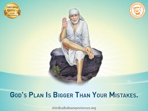God's Plan - Sai Baba Sitting On Stone Painting Image
