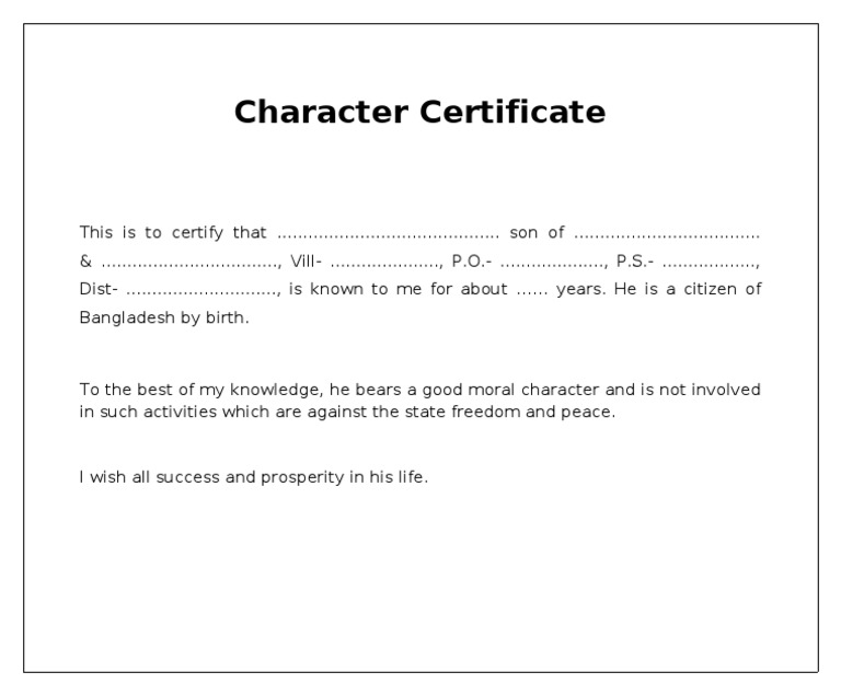 Charitra praman patra in hindienglish proforma character certificate thecheapjerseys Image collections