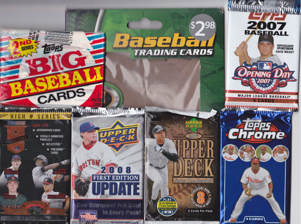 Free Football Baseball Basketball And Mtg Cards Six Packs Of
