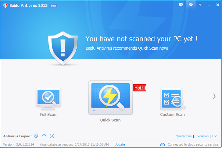 Chinese search engine Baidu launches free Antivirus Suite