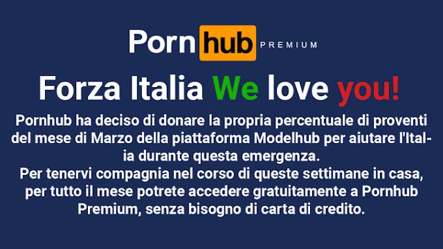 Pornhub torna Premium gratuito em Itália