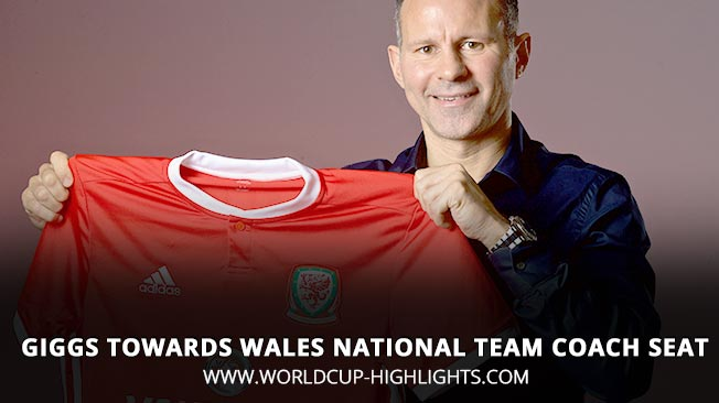 Giggs Towards Wales National Team Coach Seat