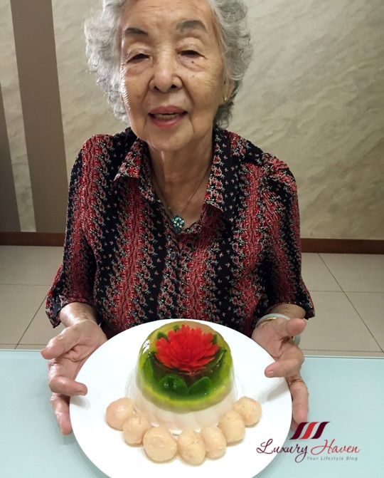 konnyaku jelly flower art birthday cake