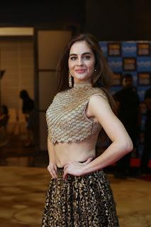 Sarah Hopkins Telugu Actress Super Sexy Maal Hot navel midriff in sleeveless Choli WOW