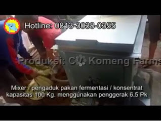 Mixer / pengaduk pakan ternak
