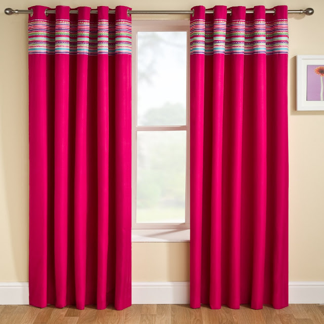simple red curtain designs 2016
