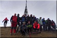 Gorbeia mendiaren gailurra 1.482 m. - 2017ko abenduaren 31ean